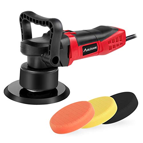 Avid Power Buffer Polisher, 6-inch Dual Action Polisher Random Orbital Car Buffer Polisher Waxer with Variable Speed, 3 Foam Pads for Car Polishing and Waxing, AEP127