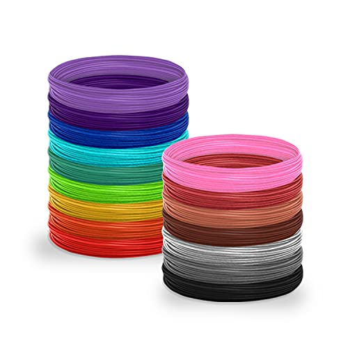 3D Pen Filament Kit Refills for 3D Pens - PLA 1.75mm Filament Color Pack | Create Professional Art with 3D Pen Refills for Kids and Adults
