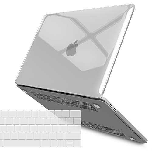 IBENZER New 2020 MacBook Pro 13 Inch Case M1 A2338 A2289 A2251 A2159 A1989 A1706 A1708, Hard Shell Case with Keyboard Cover for Apple Mac Pro 13 Touch Bar(2020-2016), Crystal Clear, T13CYCL+1A