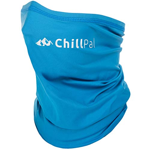 Chill Pal Neck Gaiter Face Mask Cooling Towel (Blue, Full Size)