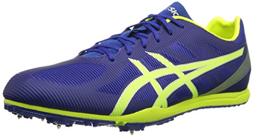 ASICS Men's Heat Chaser Track And Field Shoe,Deep Blue/Flash Yellow,11 M US