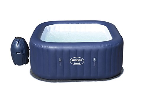 Bestway 60022E SaluSpa Hawaii 71-Inch x 26-Inch 6 Person Outdoor Inflatable Hot Tub Spa with Air Jets, Pump, 2 Filter Cartridges, and Tub Cover, Navy
