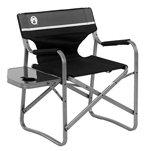 Coleman Camp Chair with Side Table   Folding Beach Chair   Portable Deck Chair for Tailgating, Camping & Outdoors