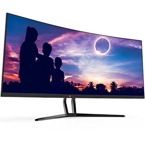 Deco Gear 35' Curved Ultrawide E-LED Gaming Monitor, 21:9 Aspect Ratio, Immersive 3440x1440 Resolution, 100Hz Refresh Rate, 3000:1 Contrast Ratio (DGVIEW201)