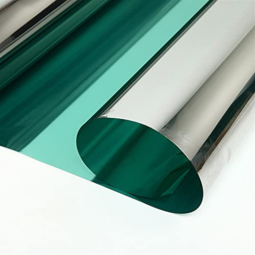 RONGSHU Window Tint Film Sun Heat Control Solar Windows Films Reflective Glass Silver Green Home Decals Office Building Stikcers (Size : 1.52x0.5m)
