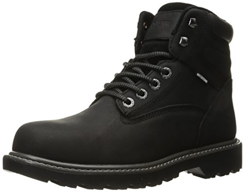 WOLVERINE Men's Floorhand Waterproof 6' Steel Toe Work Boot, Black, 10 M US