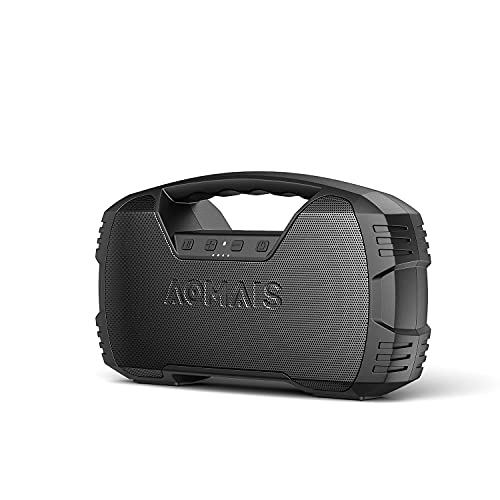 Portable Waterproof Bluetooth Speaker, AOMAIS GO MINI 40H Playtime 25W Wireless Outdoor Speakers, Rich Bass Impressive Stereo Sound, TWS, Built-in Mic, 100ft Bluetooth 5.0 for Party