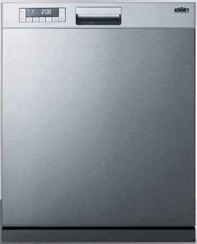 Summit Appliance DW2435SSADA ADA Compliant 24' Wide ENERGY STAR Certified Built-In Dishwasher with Stainless Steel Door and Front Controls, Digital Touch Controls, Automatic Detergent Detection