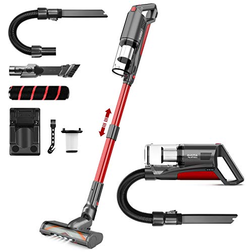 Cordless Vacuum Cleaner,whall 21000pa 5 in 1 Cordless Stick Vacuum Cleaner,250W Brushless Motor,up to 53 Mins Runtime,Lightweight Handheld Vacuum for Home Hard Floor Carpet Pet Hair,Red