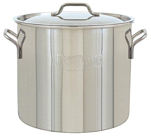 Bayou Classic Steel Bayou Stainless Brew Kettle, 40 Quart