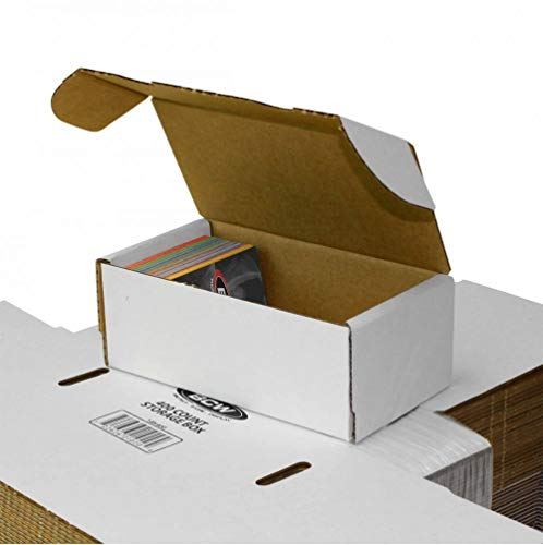 BCW 400-Count Storage Box for Trading Cards, 200 lb. Test Strength (6-Count)