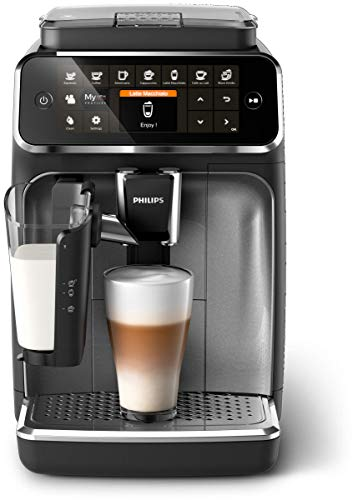 Philips Kitchen Appliances 4300 Fully Automatic Espresso Machine with LatteGo, CR, EP4347/94, one size