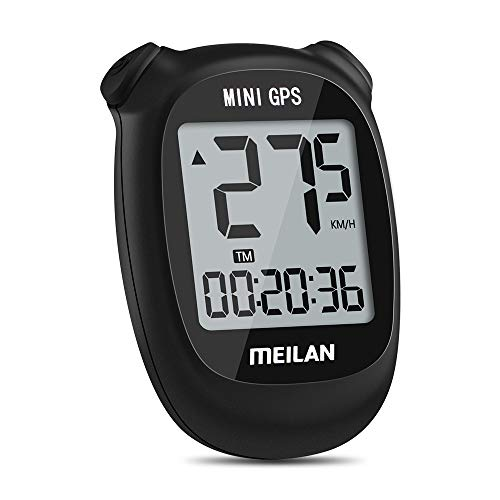 MEILAN M3 Mini GPS Bike Computer, Wireless Bike Odometer and Speedometer Bicycle Computer IPX5 Waterproof Cycling Computer with LCD Display for Outdoor Men Women Teens Bikers
