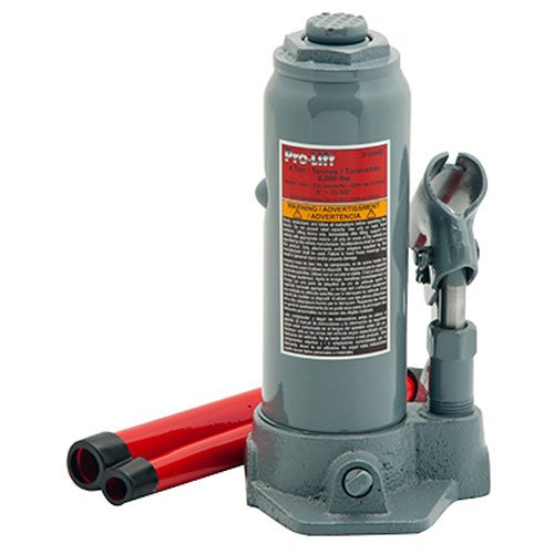 Pro-Lift B-004D Grey Hydraulic Bottle Jack - 4 Ton Capacity