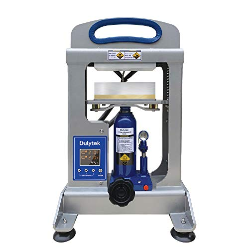 Dulytek DHP7 Hydraulic Heat Press Machine, 7 Ton Pressing Force, Dual Heat 6' Plates, Precise Two-Channel Control Panel