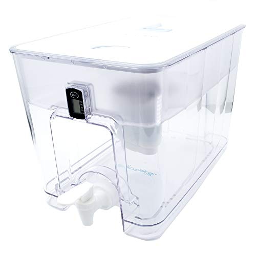 Epic Pure Countertop Water Filter Dispenser For Drinking Water. 36 Cup 150 Gallon Long Last Filter. BPA Free Removes Fluoride, Chlorine, Lead Water Purifier Large Water Jug Dispenser