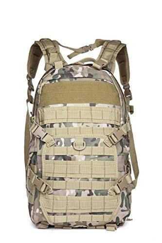 FieldTEQ Tactical Backpack - Military Survival Patrol Bag - 40L Bug Out Bag - Molle webbing - for Camping, Hunting, Hiking, Trekking & other Outdoor Adventures - Camo