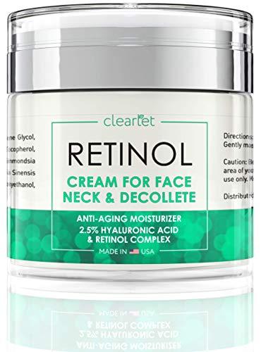 Retinol Cream for Face Moisturizer for Women Men Anti Aging Face Wrinkle Cream Retinol Facial Eye Cream Reduces wrinkles Fine Lines Day Night Facial Creams Retinoid Mens Retinol Moisturizer for Face