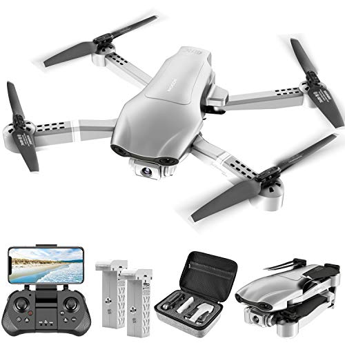 4DRC F3 GPS Drone with 4K Camera for Adults, RC Quadcopter With 5G FPV Live Video for beginners,2 Batteries and Carrying Case, Auto Return Home, Follow Me,Gravity Control,Waypoint Fly, Headless Mode