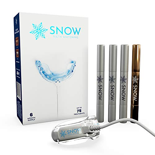 SNOW Teeth Whitening Kit with LED Light | Complete at Home Whitening System - Best Results - Safe for Sensitive Teeth, Braces, Bridges, Crowns, Caps & Veneers