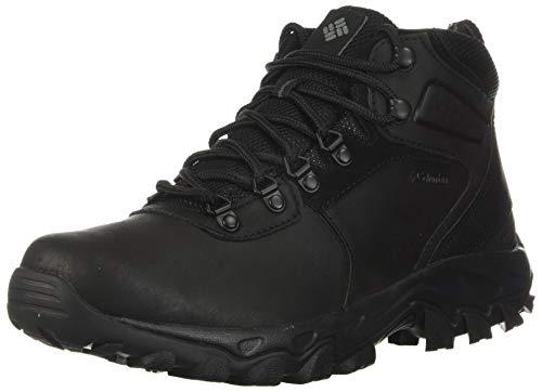 Columbia mens Newton Ridge Plus Ii Waterproof Boot Hiking Shoe, Black/Black, 10.5 US
