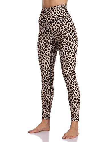 Colorfulkoala Women's High Waisted Pattern Leggings Full-Length Yoga Pants (L, Leopard)