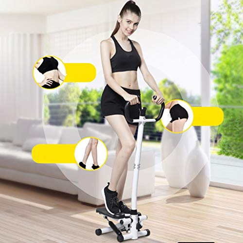 KAB Multi-Function Steppers for Exercise, Adjustable Stepper Machine Cardio Stair Stepper with Resistance Bands and LCD Display, Portable Climber Stair Stepping Fitness Machine