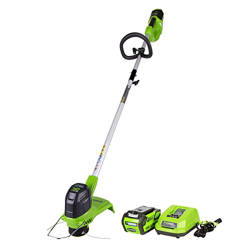 Greenworks G-MAX 40V 12 in. Front Mount String Trimmer with 2Ah Battery and Charger, 2101602