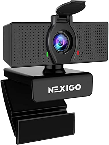 1080P Web Camera, HD Webcam with Microphone, Software Control & Privacy Cover, NexiGo N60 USB Computer Camera, 110-degree FOV, Plug and Play, for Zoom/Skype/Teams, Conferencing and Video Calling