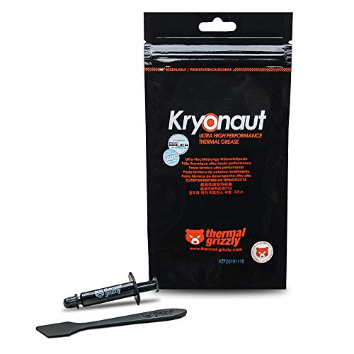 Thermal Grizzly Kryonaut Extreme The High Performance Thermal Paste for Cooling All Processors, Graphics Cards and Heat Sinks in Computers and Consoles (1 Gram)