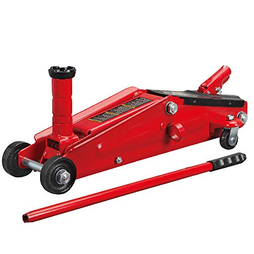 BIG RED T83006 Torin Hydraulic Trolley Service/Floor Jack with Extra Saddle (Fits: SUVs and Extended Height Trucks): 3 Ton (6,000 lb) Capacity, Red