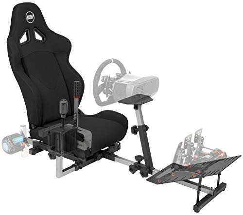 OpenWheeler GEN3 Racing Wheel Stand Cockpit Black on Black | Fits All Logitech G923 | G29 | G920 | Thrustmaster | Fanatec Wheels | Compatible with Xbox One, PS4, PC Platforms