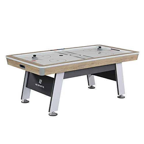 MD Sports Hinsdale 84' Air Powered Hockey Table, White/Grey