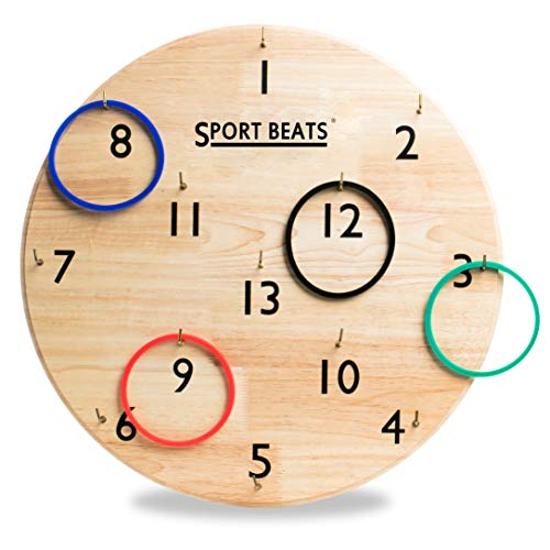 SPORT BEATS Rings Wall Toss Games for Kids and Adults Indoor Yard Outdoor Lawn Games for Adults and Family Wall Ring Tossing Choose Giant or Classic