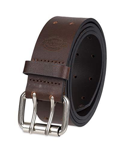 Dickies Men's Leather Double Prong Belt, Brown, 38 (Waist: 36)