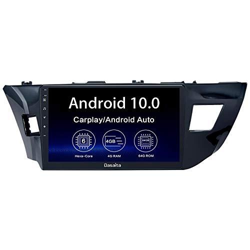 Dasaita 10.2' Android 10 Radio for Toyota Corolla 2014 2015 2016 bluetooth Stereo GPS Navigation PX6 DSP Android Auto Head Unit Wireless Carplay 1280 x 720 HD