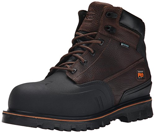 Timberland PRO Mens 6 Inch Rigmaster XT Steel Toe Waterproof Work Boot, Brown Tumbled Leather, 10.5 M US