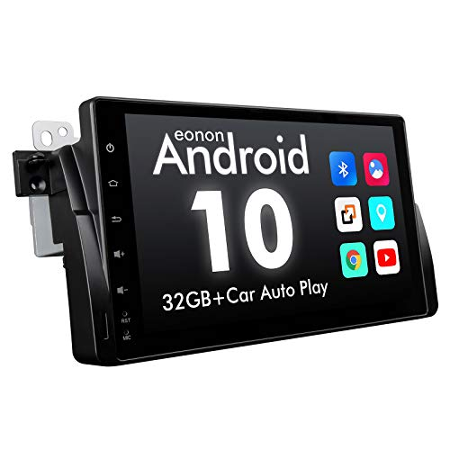 2021 Upgraded-Android Car Stereo Android 10 Car Stereo, Eonon Car Radio Applicable to BMW 3 Series Android Head Unit Support Carplay/Android Auto/WiFi/Fast Boot/Backup Camera-9 Inch-GA9450B