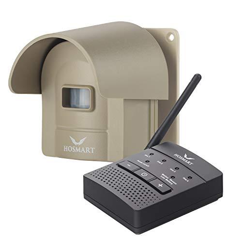 1/2 Mile Hosmart Rechargeable Driveway Alarm Wireless Sensor System & Driveway Sensor Alert System Weatherproof Security Outdoor Motion Sensor & Detector