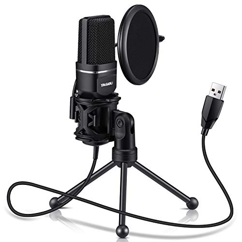 USB Microphone, TKGOU Computer Condenser Recording Microphones.for PC,PS4,Laptop,Desktop,Tripod Stand,Pop Filter,Shock Mount. for Gaming,Streaming,Podcast,YouTube,Voice Over,Skype,Twitch,Plug&Play Mic