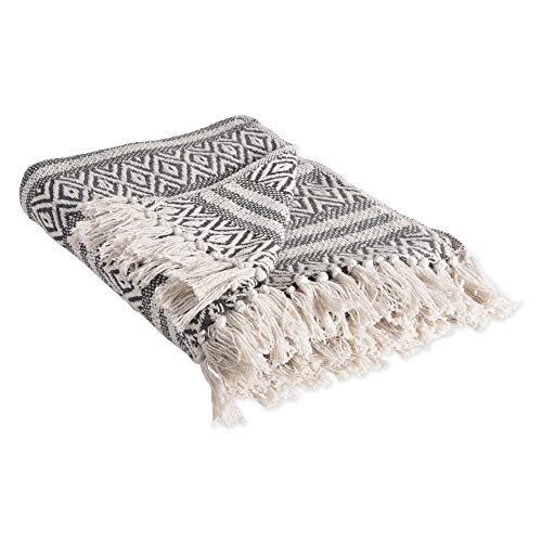 DII Rustic Farmhouse Cotton Adobe Stripe Blanket Throw with Fringe For Chair, Couch, Picnic, Camping, Beach, & Everyday Use , 50 x 60' - Adobe Stripe Mineral