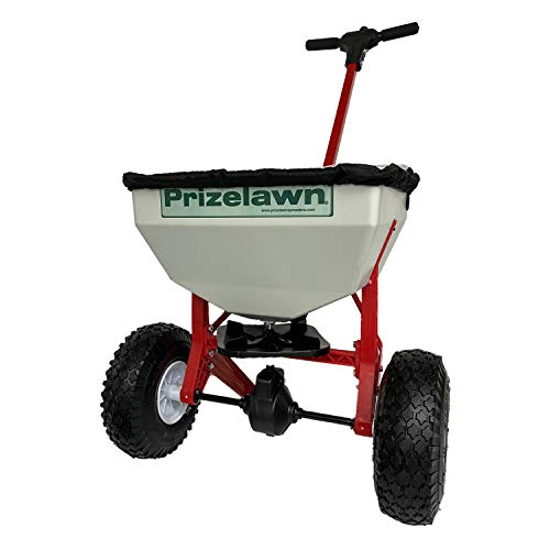 Earthway LFII PrizeLawn Little Foot 50 Lb Capacity Commercial Home Walk Behind Seed and Fertilizer Garden Spreader