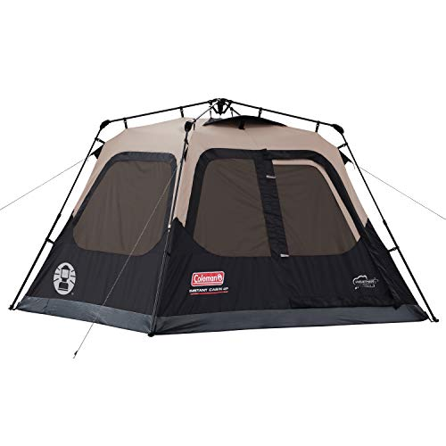 Coleman Cabin Tent with Instant Setup   Cabin Tent for Camping Sets Up in 60 Seconds, 4-Person