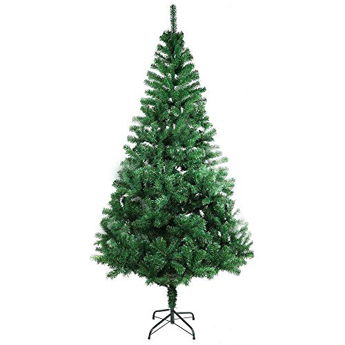 XmasExp 6 FT Artificial Christmas Pine Tree Easy Assembly with Foldable Solid Metal Stand, Perfect for Indoor and Outdoor Holiday Decoration