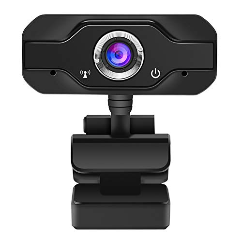 Webcam with Microphone, 1080P GOSWER Web Camera for Zoom Meetings, Plug and Play, USB Adjustable Superlight Webcam for Webex, Facetime, Skype, 110-Degree Angle Computer Camera, PC Laptop Desktop