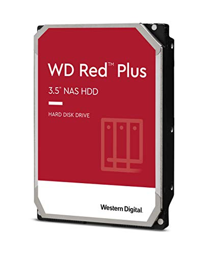 Western Digital 10TB WD Red Plus NAS Internal Hard Drive HDD - 7200 RPM, SATA 6 Gb/s, CMR, 256 MB Cache, 3.5' - WD101EFBX