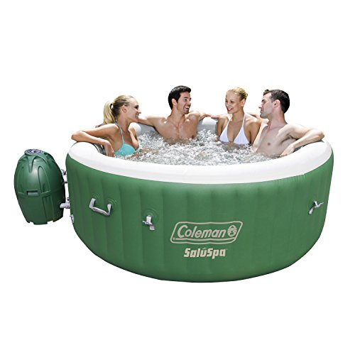Coleman 90363E SaluSpa Inflatable Hot Tub Spa, Pack of 1, Green & White