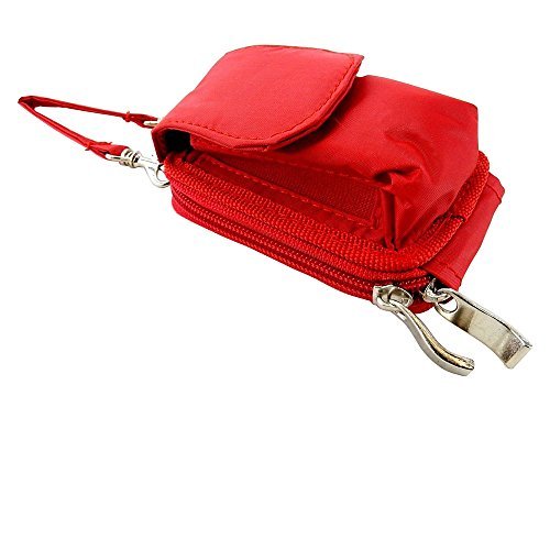 Nylon Flip Phone Case, Shoulder/Crossbody Strap, Belt Clip, Zipper Wallet #K9570.