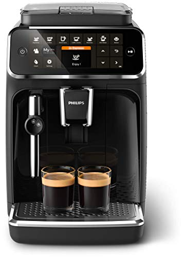 Philips Kitchen Appliances 4300 Fully Automatic Espresso Machine with Classic Milk Frother, BK, EP4321/54, one size