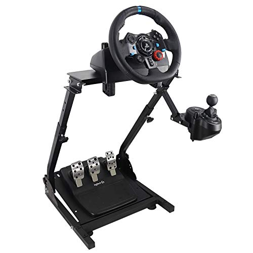 Racing Wheel Stand, Height Adjustable & Foldable Steering Wheal Stand Compatible with Logitech G25,G27,G29,G920 Gaming Cockpit